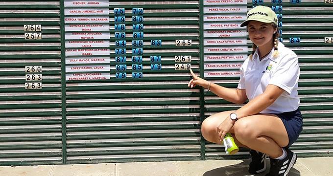 Laura López va de menos a más en su primer Campeonato de España de Golf Infantil