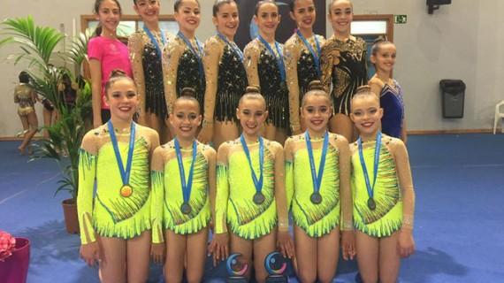 Cuatro medallas de bronce para el Rítmico Colombino en el Campeonato de Andalucía de Gimnasia Rítmica