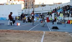 Ana Peleteiro cumplió con el pronóstico y se impuso en el triple salto. / Foto: Laura Cebrino.