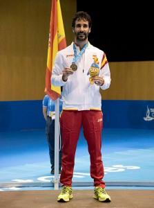medalla de oro obtenida en Los Juegos del Mediterráneo. / Foto: photos.tarragona2018.cat.