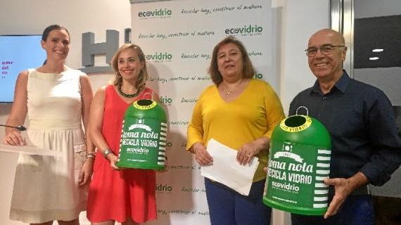 La provincia de Huelva recicló más de 4.300 toneladas de vidrio en 2017, un 1,5% más que en 2016