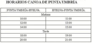 Turismo Canoa Horarios 2018