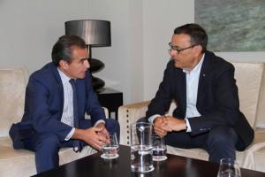 Reunión de Rafael Herrador e Ignacio Caraballo.
