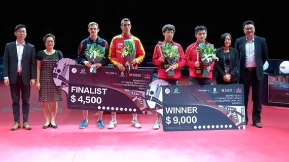 Histórica medalla de plata para el onubense Álvaro Robles en el Open de China de tenis de mesa