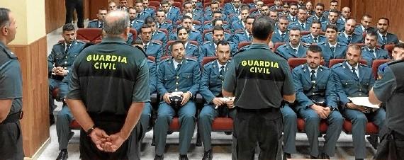 Un total de 63 guardias civiles se incorpora de forma eventual a la Comandancia de Huelva
