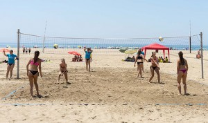 Muy emocionante y vistosa resultó la competición en la playa ayamontina.