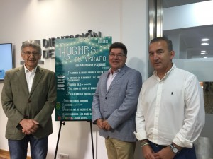 En la presentación de la Diputación intervinieron el diputado provincial Cristóbal Guerrero, el alcalde de Bonares, Juan Antonio García, y el teniente de alcalde de Cultura, Pedro J. Martín Martín.
