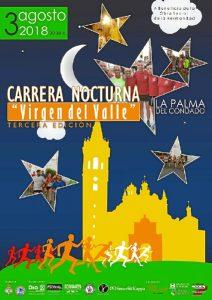 Cartel de la III Carrera Nocturna Virgen del Valle.