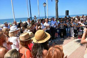 Un momento de la concentración celebrada este domingo en La Antilla.