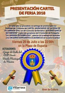 Cartel del evento que se celebrará este viernes 20 de julio en Villarrasa.