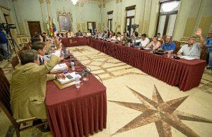 Un momento del Pleno celebrado en el Consistorio.
