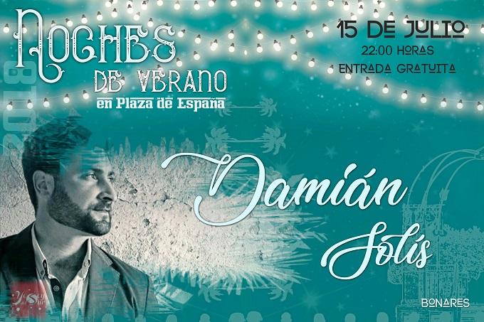 Damián Solís encabeza la tercera 'Noche de Verano' de Bonares