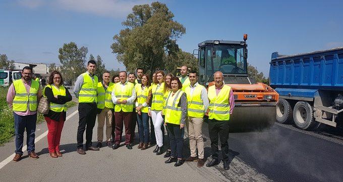 Las obras de emergencia en la carretera entre La Palma y Valverde entran en su segunda fase