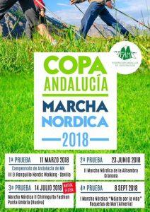 Cartel anunciador de la prueba de marcha nórdica que tendrá lugar en El Portil.