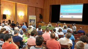 Un momento de la presentación de los estudios del Ifapa para mejorar la producción agrícola celebrada en Almonte.