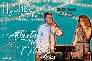 Alberto Noja & Cristina Almisas protagonizan un concierto este domingo 29 de julio en Bonares.