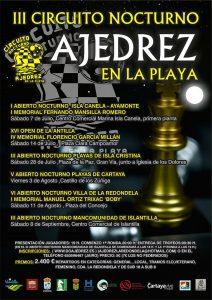 Cartel del torneo de ajedrez que tiene lugar este sábado en La Antilla.