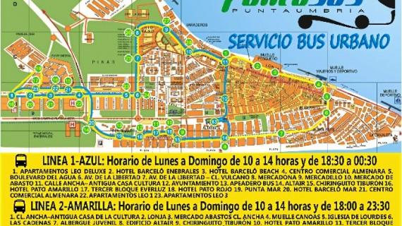 Dos líneas de autobuses volverán a conectar la zona norte con la sur en Punta Umbría