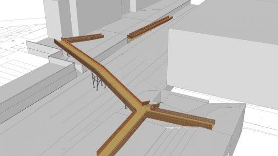Firmado el contrato de la pasarela peatonal de madera que unirá La Hispanidad con el Parque Moret