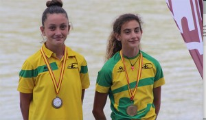 El histórico podio con Araceli Alonso y Daniela García, primera y segunda.