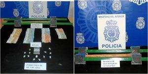 Se han intervenido 13 paquetillas de heroína/cocaína y 965 euros