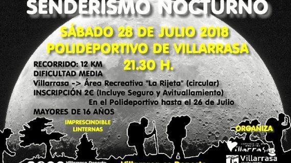 Villarrasa celebra la I Ruta de Senderismo nocturno