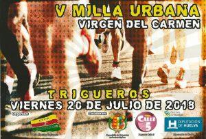 Cartel de la prueba atlético que se celebrará en Trigueros el día 20 de julio.