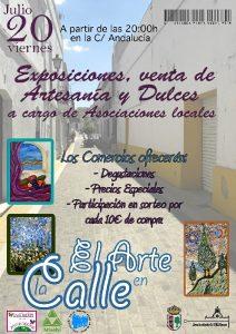 La actividad 'El arte en la calle' será este viernes, 20 de julio, en la calle Andalucía.