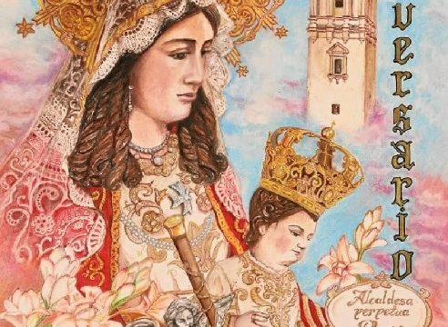 La Hermandad de Clarines presenta el cartel que conmemora el  25 aniversario del nombramiento de la Virgen como alcaldesa perpetua