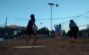 El vóley playa, una de las actividades de esta iniciativa deportiva.