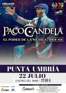 Paco Candela ofrece un concierto este domingo en Punta Umbría.