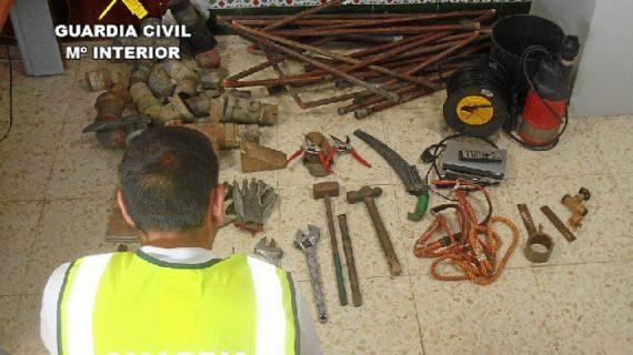 Detenidas tres personas implicadas en el robo de una finca en La Palma del Condado