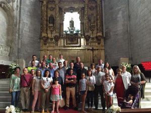 Puebleños, durante el intercambio cultural a Íscar.