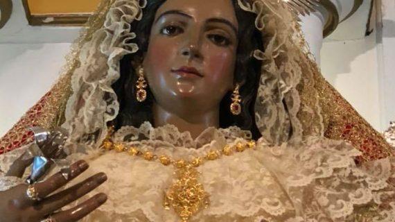 Se realizan batidas en el cementerio de Puebla de Guzmán en busca de las joyas de la Virgen de la Caridad