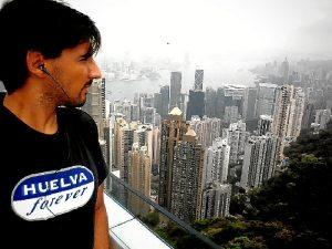 Durante una visita a Hong Kong, en la Semana Santa de 2014.