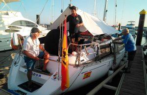 Comienzan a llegar a Mazagón los primeros barcos que van a participar en la Regata Huelva-La Gomera.