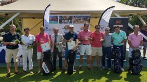 Los ganadores del Pro-Shop, torneo que ha cerrado la temporada en en el campo de golf de Islantilla.