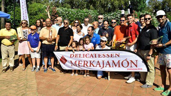 Juan Agüera, vencedor scracht en el IV Torneo de Golf 'Delicatesen Merkajamon' en Isla Canela