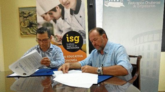 Convenio de colaboración entre la FOE y el Instituto Superior de Gastronomía de Huelva