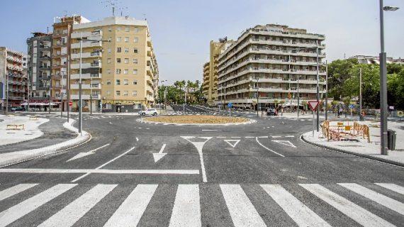 Puesta en servicio de la nueva rotonda de acceso a la estación de trenes de Huelva