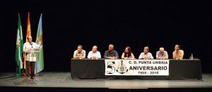 Un momento de la presentación de los actos de celebración del 50 Aniversario del Club Deportivo Punta Umbría.