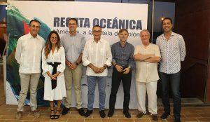 Representantes políticos durante el acto que tuvo lugar en Mazagón.