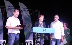 Uno de los instantes emotivos del acto fue el homenaje al informador deportivo Manuel Ortiz Trixac 'Boby', fallecido hace unos meses.