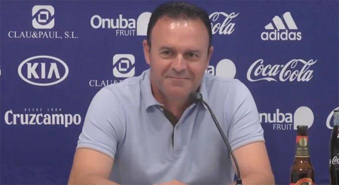 José María Salmerón, entrenador del Recre, confía en que su equipo pueda darle una alegría a su afición. / Foto: Recre. org.