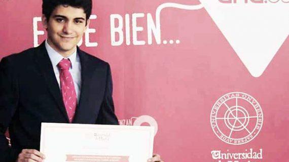 El onubense Fernando Pérez Campos logra el mejor expediente de la Universidad de Huelva