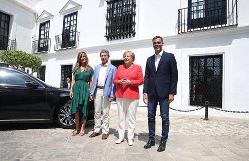 Sánchez y Merkel acuerdan en Doñana trabajar por una hoja de ruta común ante los grandes retos europeos