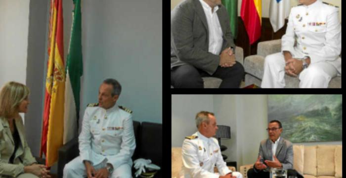 Encuentros institucionales del nuevo Comandante Naval de Huelva, Mariano Ugarte Romero
