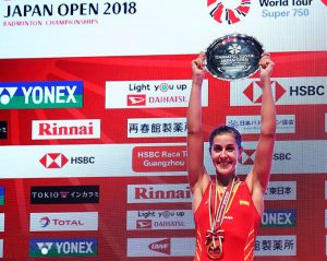 Carolina Marín conquista el Abierto de Japón de bádminton por segundo año consecutivo. / Foto: Badminton Photo.