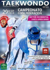 Cartel del Campeonato de taekwondo que tendrá lugar este sábado en Lepe.