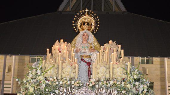 La Virgen de los Dolores recibe la Medalla de Oro de la Ciudad por el 75º Aniversario de su llegada a Punta